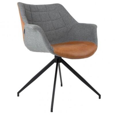 Armchair Doulton grey/brown (set van 2)