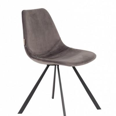Franky Velvet chair grey - set van 2