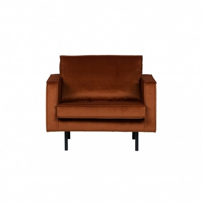 Rodeo velvet fauteuil - roest