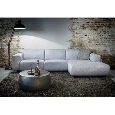 Hoekbank Chaise Lounge.Nova Bank 2 5 Chaise Longue Rechtsvoorstaand Hombre Silver