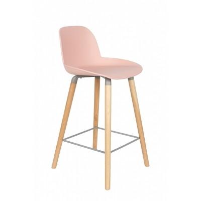Albert Kuip counter stool old pink - set van 2