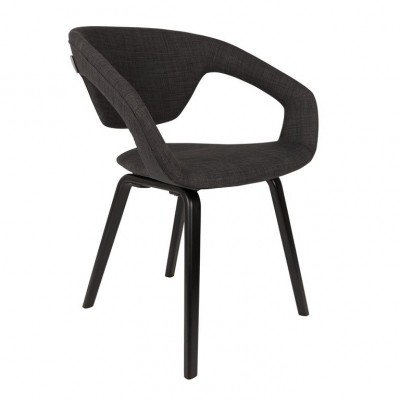 Armchair Flexback black/darkgrey (set van 2)