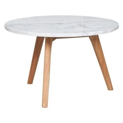 Side table white stone L