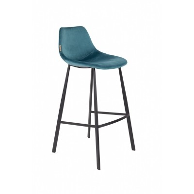 Franky bar stool - petrol - set van 2