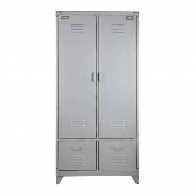 locker metaal zilver