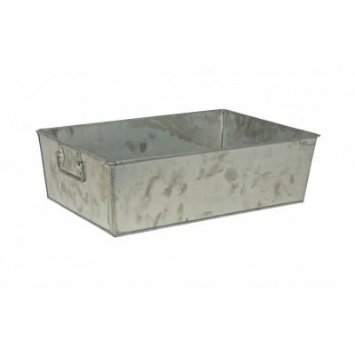 Crate opbergbak zink