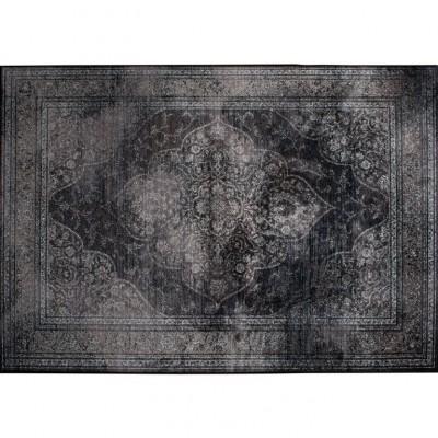 Rugged carpet donker 170 x 240 cm