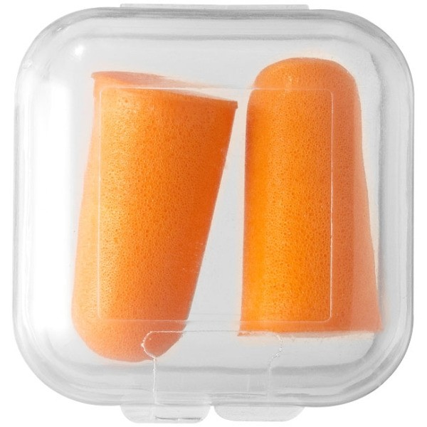 Foamoordopjes Oranje - onbedruk in pvc doosje
