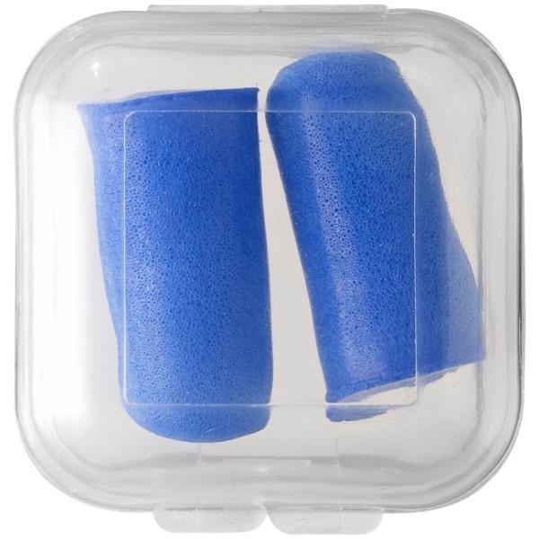 Foamoordopjes blauw - onbedruk in pvc doosje