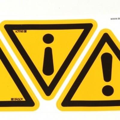 waarschuwingssticker met uitroepteken