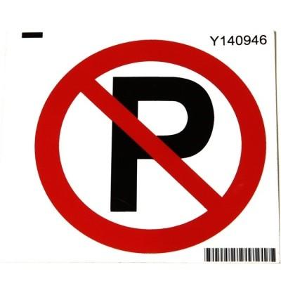 Verbodssticker Verboden te parkeren