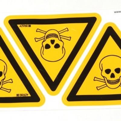 waarschuwingssticker Waarschuwing voor giftige stoffen