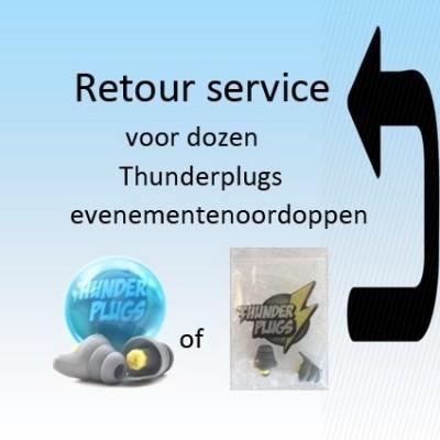 Foto van Retour service voor Thunderplugs in capsule of zakje