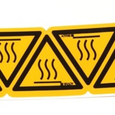 Foto van Waarschuwingssticker voor heet oppervlak klein