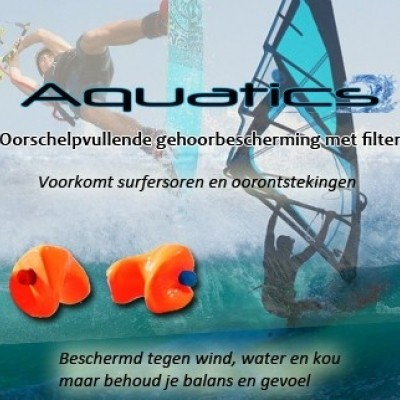 Earsafety Aquatics watersportoordoppen op maat