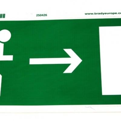 Foto van Sticker nooduitgang Rennende persoon met pijl naar rechts