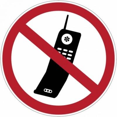 Verbodssticker Mobiele telefoons verboden