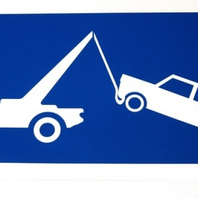 Wegsleepregeling sticker