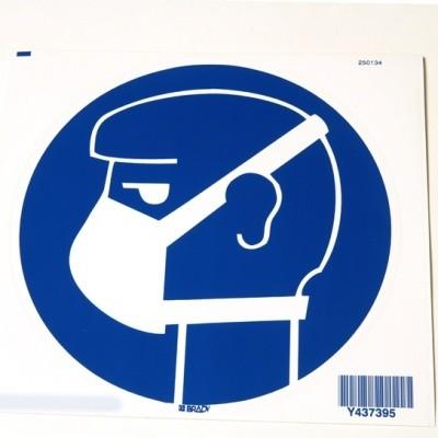 Foto van Lichte ademhalingsbescherming verplicht sticker