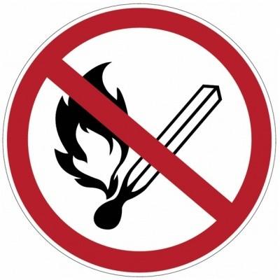 Verbodssticker Open vuur verboden