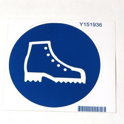 Foto van Veiligheidsschoenen verplicht sticker