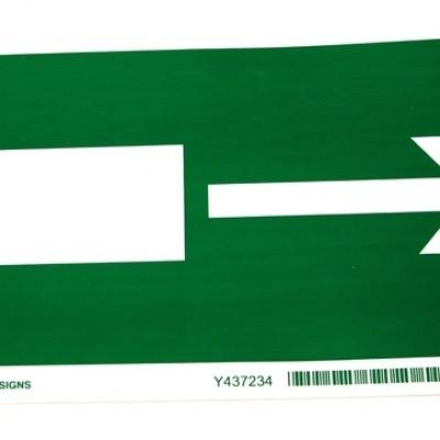 Sticker nooduitgang met aanwijzingspijl