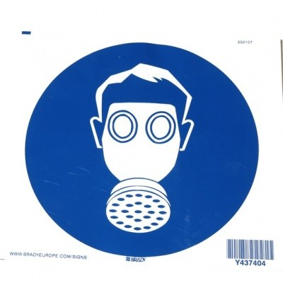 Foto van Ademhalingsbescherming verplicht sticker