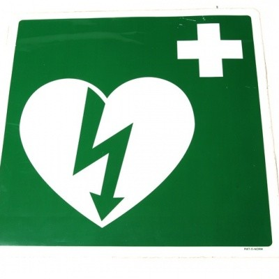 AED sticker groot