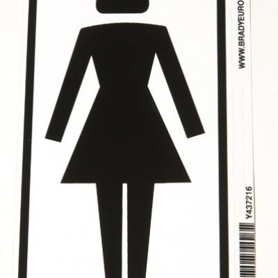 WC deur sticker dames wc