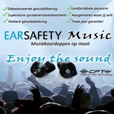 Foto van Earsafety Music - Muziek oordoppen op maat
