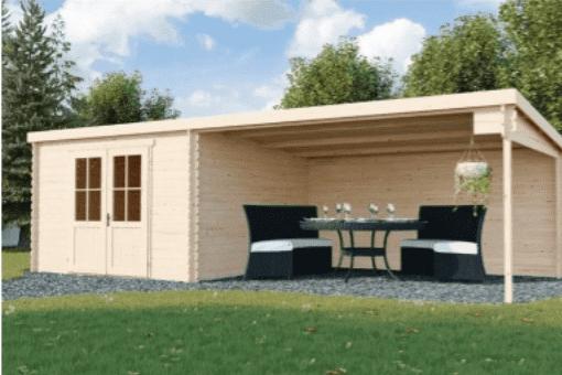 Tuinhuisje met terras - Azalp case study van Afosto