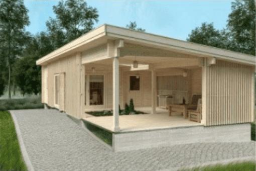 Blokhut met terras - Azalp case study van Afosto