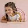 Afbeelding van Little Dutch Houten Regenboog Telraam Roze/Okergeel LD7031