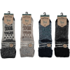 Afbeelding van Apollo Natural Wool Fashion Heren Huissokken Antislip - Zwart