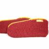 Afbeelding van Pure Wool Fair Trade Gebreide Huissok Sherpa Gevoerd Maroon ONE SIZE
