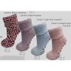 Afbeelding van Apollo Natural Wool Fashion Dames Huissokken Antislip - Bordeaux Rood