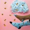 Afbeelding van Many Mornings Bee Bee Mismatched Unisex Sokken