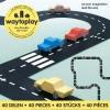 Afbeelding van Waytoplay King of The Road - Flexibele Wegdelen Set 40 delig