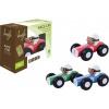 Afbeelding van Jouéco Houten Raceauto 9 cm Blauw 80048 in geschenkdoos