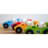 Afbeelding van Jouéco Houten Raceauto 80070 Blauw - 12,5 cm