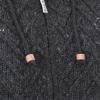 Afbeelding van Pure Wool Handgebreide Gevoerde Jas WJK-1709 Antraciet