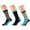 Afbeelding van Apollo Heren Sokken Zwart/Aqua 3-PACK GIFTBOX