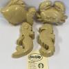 Afbeelding van Dantoy BIOplastic Zandvormen Zeedieren Set - 4 stuks
