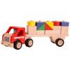 Afbeelding van Santoys Houten Rubberwood Truck met Aanhanger en Blokken
