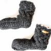 Afbeelding van Pure Wool Fair Trade Gebreide Slofsokken Sherpa Gevoerd Antraciet ONE SIZE