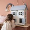 Afbeelding van Little Dutch Houten Poppenhuis Wit/Blauw pastel
