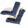 Afbeelding van Pure Wool Fair Trade Slofsokken met lederen Zool Blauw ONE SIZE