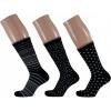 Afbeelding van Apollo Dames Sokken Zwart/Zilvergrijs - 3 PAAR IN GIFTBOX
