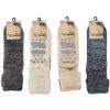 Afbeelding van Apollo Natural Wool Heren Huissokken Antislip - Lichtgrijs