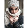 Afbeelding van Pure Wool Kabel Hoofdband met Sherpa Voering Ecru ONE SIZE